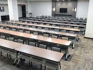 Classroom style seating