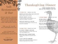 Icon of Thanksgiving Menu PDF